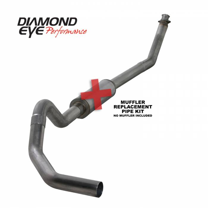 Diamond Eye Performance - Diamond Eye Performance 1994-2002 DODGE 5.9L CUMMINS 2500/3500 (ALL CAB AND BED LENGTHS)-4in. 409 STAINL K4212S-RP