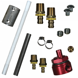 FASS - FASS FUEL SYSTEMS DIESEL FUEL BULKHEAD AND CONVOLUTED SUCTION TUBE KIT (STK-1003)