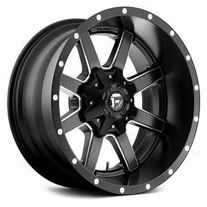 GI Parts and Bundles - Fuel Gloss Black and milled Maverick Wheels 20x10 -18MM 8x180