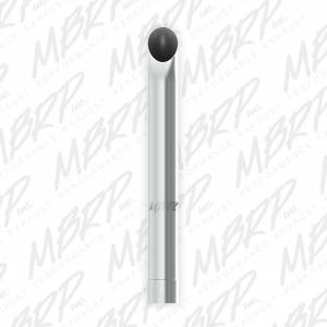 """MBRP Exhaust - MBRP Exhaust 1 pc Stack  4"""" Turn Out  36"""" Mirror Polished T304 B1430"""