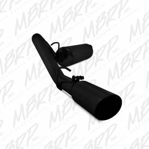 MBRP Exhaust - MBRP Exhaust 2 1/2 Cat Back, Single Side, Black Coated S5512BLK