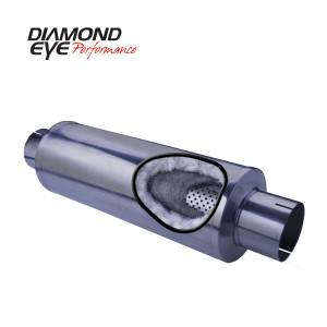 Exhaust - Mufflers - Diamond Eye Performance - Diamond Eye Performance PERFORMANCE DIESEL EXHAUST PART-4in. 409 STAINLESS STEEL PERFORMANCE PERFORATED 460031