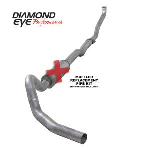 Diamond Eye Performance - Diamond Eye Performance 1994-2000 CHEVY/GMC 6.5L DIESEL 2500/3500 (ALL CAB AND BED LENGTHS)-4in. ALUMINI K4102A-RP