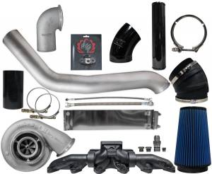 Turbo Chargers & Components - Turbo Charger Kits - Deviant Race Parts - Deviant Race Parts 2nd Gen Style Cummins Single Turbo Kit - S464 86364