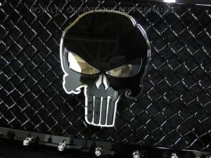 Grilles & Badges - Emblems/Logos - Royalty Core - Royalty Core Punisher Skull 2-Tone