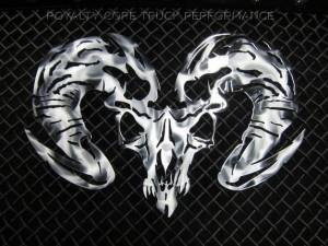 Grilles & Badges - Emblems/Logos - Royalty Core - Royalty Core Ram Skull Airbrushed