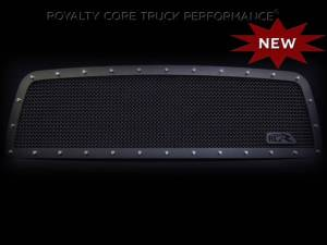 Grilles & Badges - Grilles - Royalty Core - Royalty Core Chevrolet 1500 1999-2002 RCR Full Grille Replacement Satin Black w/ 12.0 Mesh