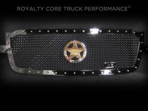 Grilles & Badges - Grilles - Royalty Core - Royalty Core Chevrolet 1500 2003-2005 RC1 Full Grille Replacement with War Star Emblem