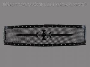 Grilles & Badges - Grilles - Royalty Core - Royalty Core Chevrolet 1500 2007-2013 RC1 Full Grille Replacement with Sword Assembly