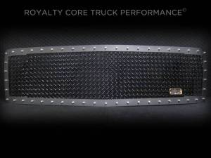 Grilles & Badges - Grilles - Royalty Core - Royalty Core Chevrolet 1500 2007-2013 RC1 Satin Black Grille Replacement Gloss 5.0 Mesh
