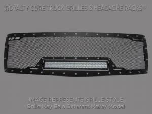 Grilles & Badges - Grilles - Royalty Core - Royalty Core Chevrolet 1500 2007-2013 RCRX Full Grille Replacement LED Race Line
