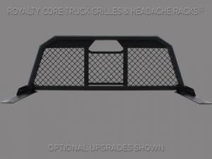 Royalty Core - Royalty Core Chevy/GMC 1500/2500/3500 1999-2007.5 RC88 Billet Headache Rack with Diamond Mesh