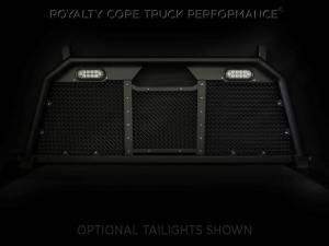 Exterior - Headache Racks - Royalty Core - Royalty Core Ford Superduty F-250 F-350 2017+ RC88 Headache Rack with Diamond Crimp Mesh