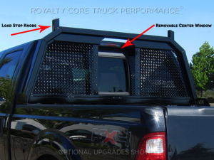 Exterior - Headache Racks - Royalty Core - Royalty Core Dodge Ram 1500 2009-2017 RC88 Ultra Billet Headache Rack w Integrated Taillights