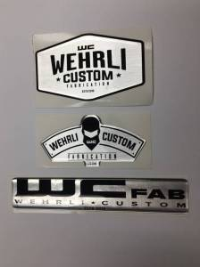 Gear & Apparel - SWAG - Wehrli Custom Fabrication - Wehrli Custom Fabrication Combo Pack Gel Stickers