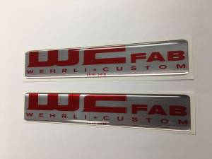 Gear & Apparel - SWAG - Wehrli Custom Fabrication - Wehrli Custom Fabrication WCFab Gel Stickers