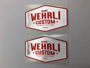 Gear & Apparel - SWAG - Wehrli Custom Fabrication - Wehrli Custom Fabrication Wehrli Custom Badge Gel Stickers