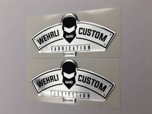 Gear & Apparel - SWAG - Wehrli Custom Fabrication - Wehrli Custom Fabrication Wehrli Custom Helmet Gel Stickers