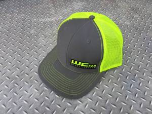 Gear & Apparel - Hats - Wehrli Custom Fabrication - Wehrli Custom Fabrication Snap Back Hat Charcoal/Fluorescent Green WCFab