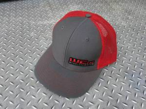 Gear & Apparel - Hats - Wehrli Custom Fabrication - Wehrli Custom Fabrication Snap Back Hat Charcoal/Red WCFab