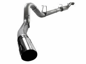 Exhaust - Exhaust Systems - aFe Power - aFe Power 5in DP-Back Exhaust Ford F-250/350 Superduty 08-10 V8-6.4L W/Mflr Pol Tip - 49-43040-P
