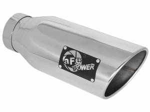 Exhaust - Exhaust Tips - aFe Power - aFe Power EXH Tip; 4In x 6Out x 15L in Bolt-On Right (Pol) - 49-92018-PR15