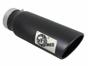 Exhaust - Exhaust Tips - aFe Power - aFe Power EXH Tip; 4In x 5Out x 15L in Bolt-On (Blk) - 49T40501-B15