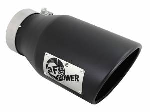 Exhaust - Exhaust Tips - aFe Power - aFe Power EXH Tip; 4In x 6Out x 12L in Bolt-On (Blk) - 49T40601-B12