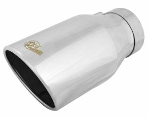 Exhaust - Exhaust Tips - aFe Power - aFe Power EXH Tip; 4In x 6Out x 12L in Bolt-On (Pol) - 49T40604-P12