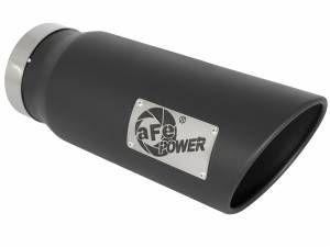 Exhaust - Exhaust Tips - aFe Power - aFe Power EXH Tip; 5In x 6Out x 15L in Bolt-On (Blk) - 49T50601-B15