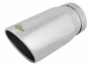 Exhaust - Exhaust Tips - aFe Power - aFe Power EXH Tip; 5In x 6Out x 12L in Bolt-On (Pol) - 49T50604-P12
